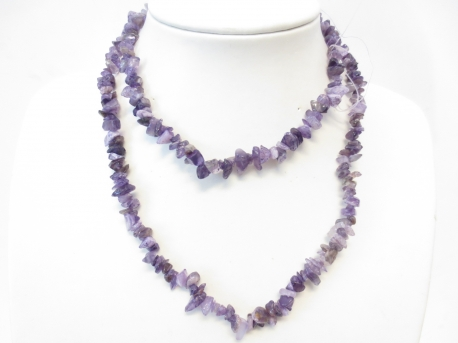 Thin Mineral necklace 90cm Amethyst