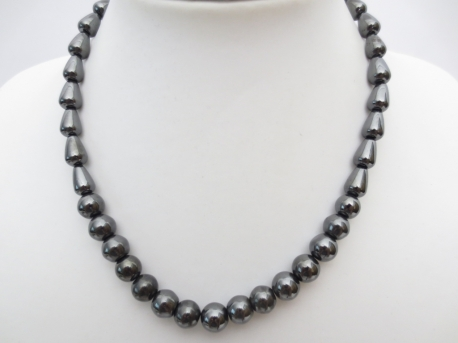 Ball-R.tangular necklace