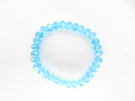 Crystal bracelet thin blue