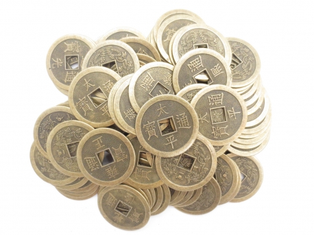 Chinese lucky coins large (100 pieces)