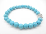 8mm bracelet Turquoise Buddha with gift-box