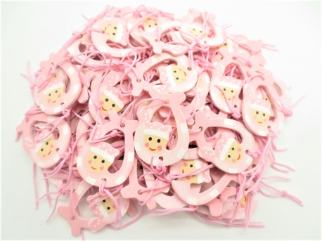Lucky doll hanger pink (100 pieces)