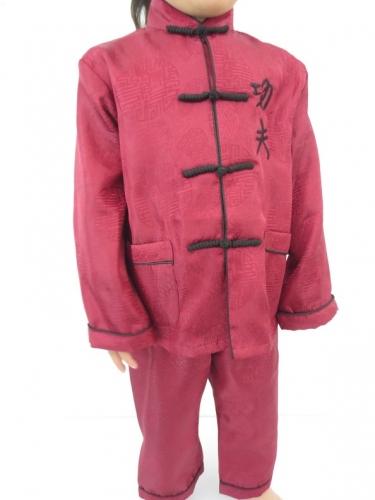 Kids kung fu suit red size 8
