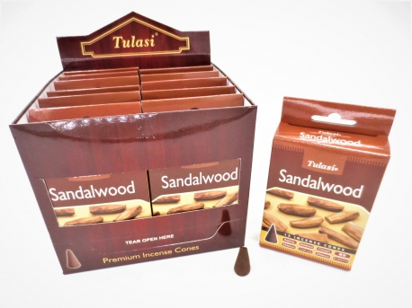 Tulasi Sandelwood Cones (brown box)