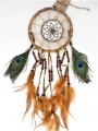17cm bamboo Dreamcatchers with peacock feather