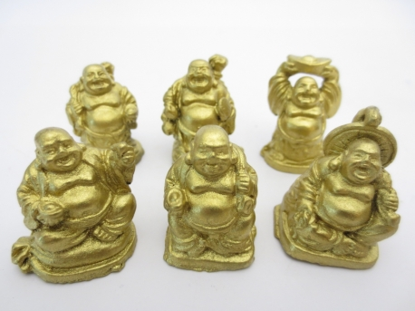 Wholesale - 3cm mini Buddha Gold Set 6 pieces