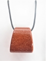 Trapezoid Pendant Necklace - Golden Stone