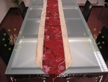 Chinese table-cover dark red