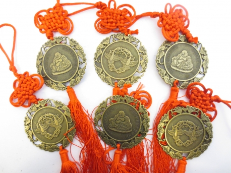 Lucky Coin Happy Buddha set of 6