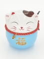 Wholesale - Lucky cat money box Blue