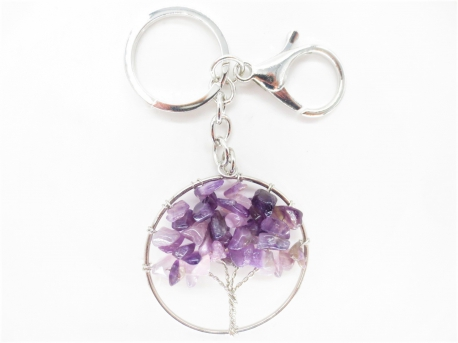 Tree of Life keychain small amethyst
