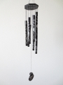 Wind chime black Yin Yang 70cm
