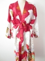 Japanese kimono long dark red