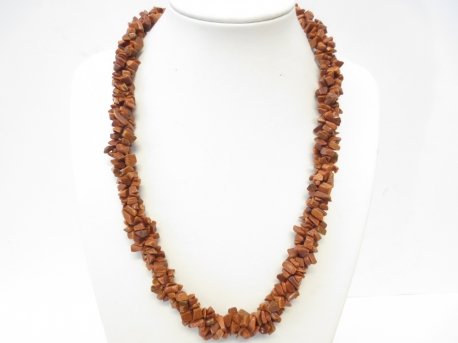 Fat Mineral Necklace Goldstone