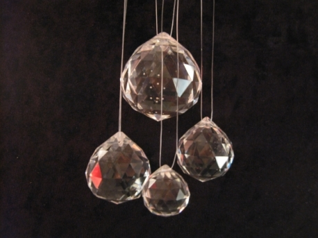 Crystal Rainbow Ball 3cm (6 pieces) Level K9 - The Best Quality