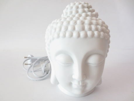 White Buddha head oilburner/ light small