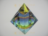 Crystal pyramide colored 7x7