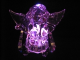 Crystal statue angel in love