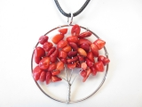 Tree of Life Necklace red coral