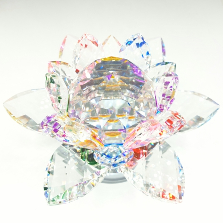 Mixed Crystal lotus on standard extra large