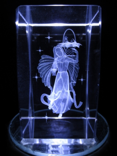 3D Angel with bucket