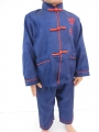 Kids kung fu suit blue size 6