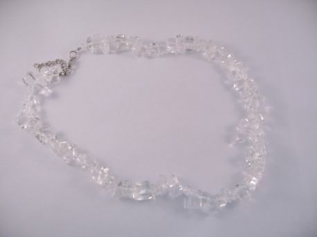 Gem stone necklace 45cm Rock Cristal