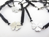 adjustable clover stainless steel bracelets (6pcs)