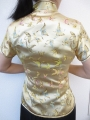 Shanghai blouse butterfly gold