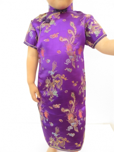 Girls Dress dragon phoenix purple