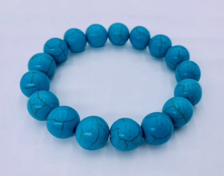 Wholesale Gemstone Bracelet - 12 mm Turquoise Bracelet