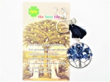 Tree of Life keychain sodalite with owl