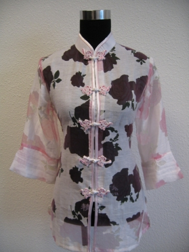 blouse with flower