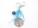 Tree of Life keychain with blue ball