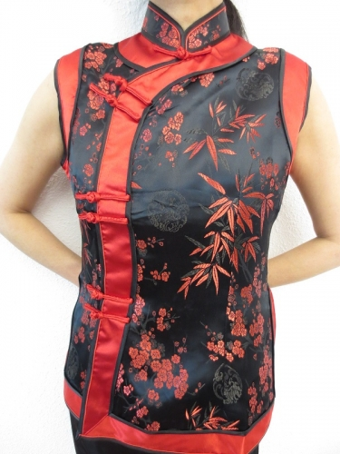 black with red ladies tops