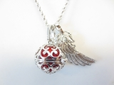 Angel Caller with red chime ball