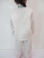 Kids kung fu suit white size 8