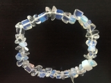 Thin gemstone bracelets Opalite (12 pieces)
