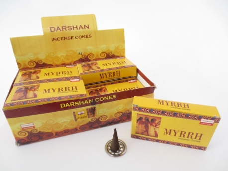 Darshan incense cones Myrrh