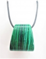 Trapezoid Pendant Necklace - Malachite