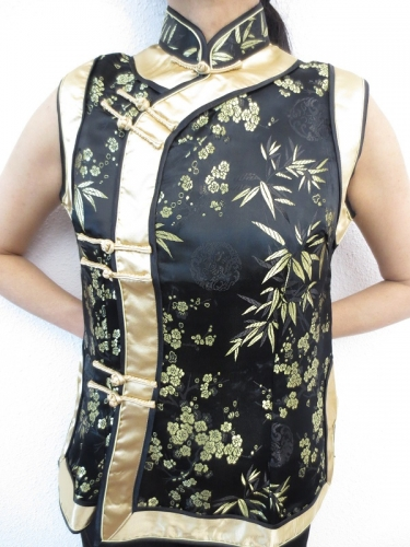 black with gold ladies tops