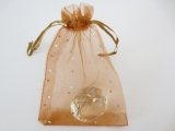 Brilliant Organza bag Brown