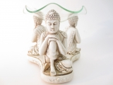 3 buddhas oil thinking burner white