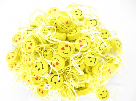 Wholesale Round Smiley Lucky hanger