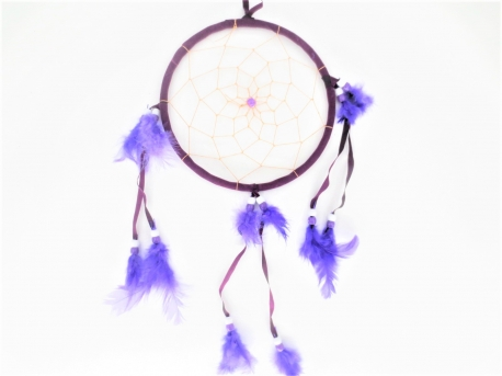 16cm round Dreamcatcher purple (5pcs)