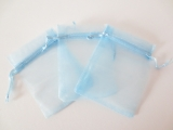 Organza Gift Bag 10 x 15cm light blue
