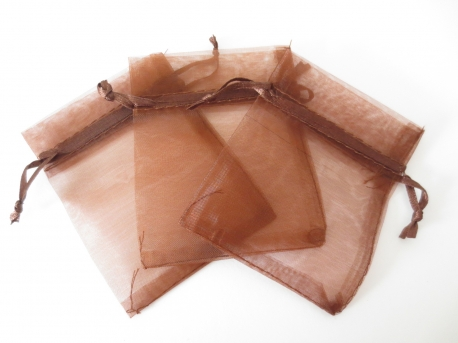 Organza Gift Bag Brown