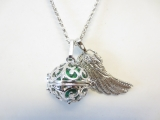 Angel Caller with green chime ball