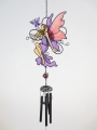 Fairy with butterfly windchime purple