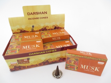 Darshan incense cones Musk